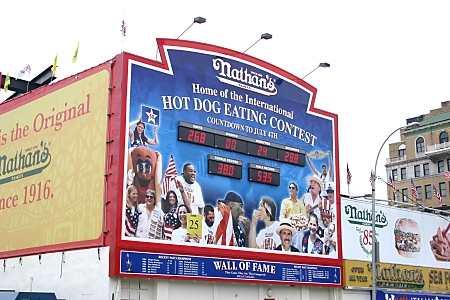 Nathan's Hot Dog eating contest hall of fame