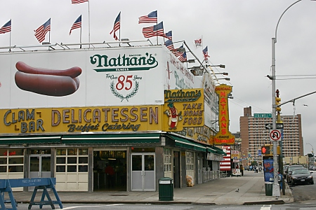 Nathan's Coney Island restaurant
