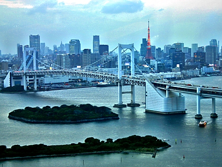 The view from the Fuji Building, Odaiba, Tokyo