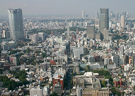 View from the Tokyo Tower toward Roppongi and Shinjuku