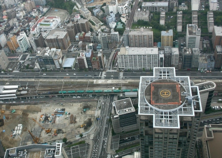 View from the top of Yokohama's Landmark Tower 69th floor observatory